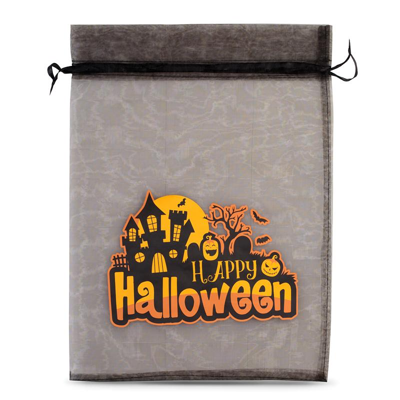 1 pièce Sac en organza Halloween 1, 40 x 55 cm - noir