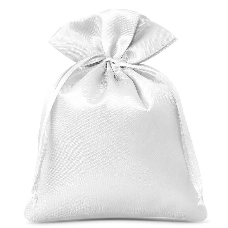 10 pièces Sacs de satin 6 x 8 cm - blanc