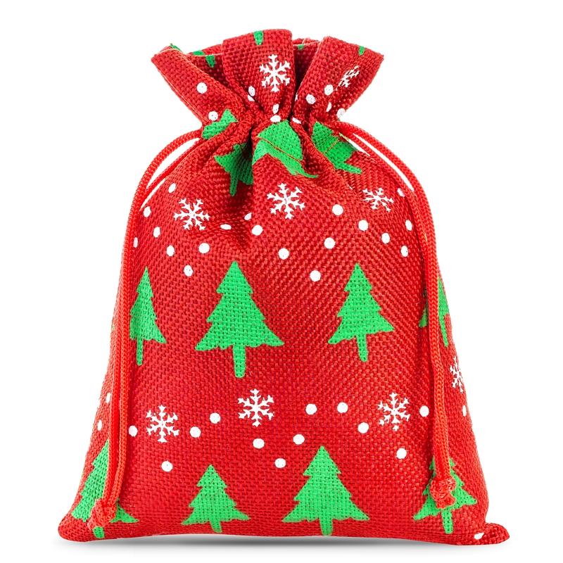 5 pièces Sacs de jute 18 x 24 cm - naturelle clair Sac de Noël