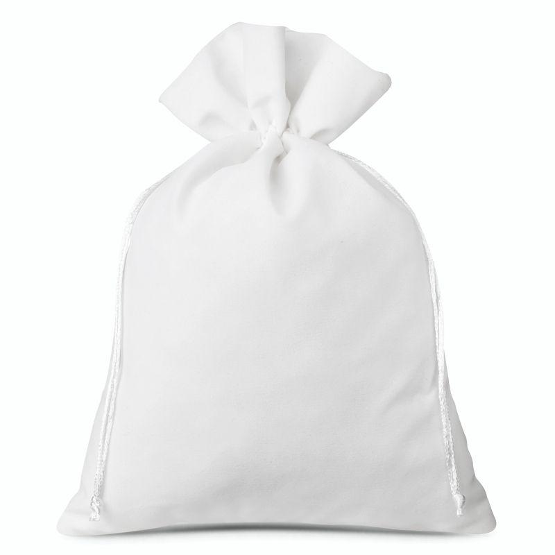 1 pièce Sac en velours 30 x 40 cm - blanc