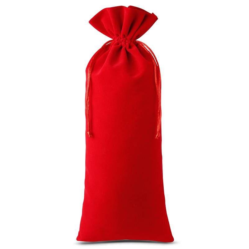 10 pièces Sacs en velours 11 x 20 cm - rouge
