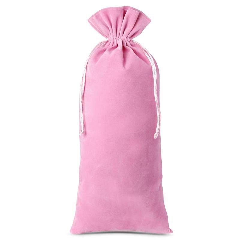 10 pièces Sacs en velours 11 x 20 cm - rose clair