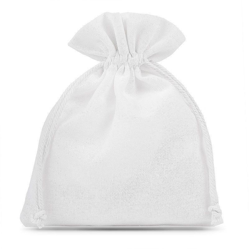 5 pièces Pochettes en coton 15 x 20 cm - blanc