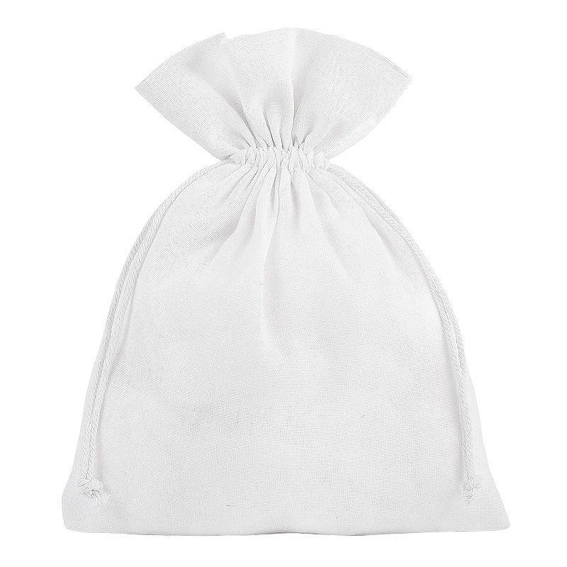 5 pièces Pochettes en coton 18 x 24 cm - blanc