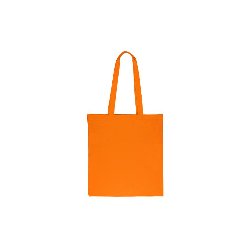 1 pc. Sac en coton 38 x 42 cm avec des anses longues- orange
