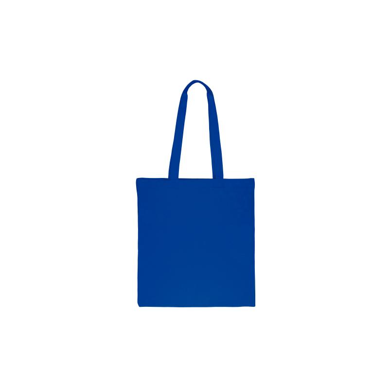 1 pc. Sac en coton 38 x 42 cm avec des anses longues- bleu