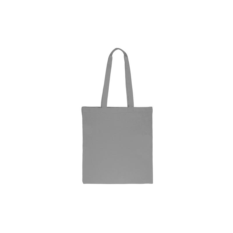 1 sac en coton 38 x 42 cm avec des anses longues- gris