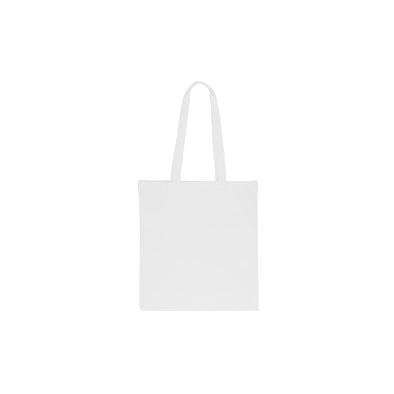 1 sac en coton 38 x 42 cm avec des anses longues- blanc