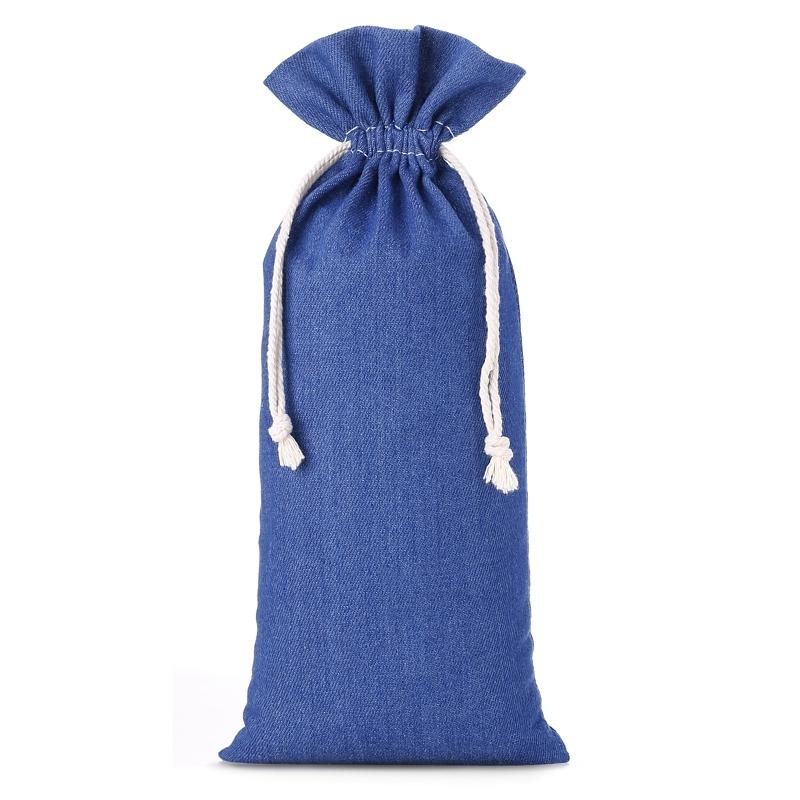 1 pièce Sac en jean 16 x 37 cm - bleu