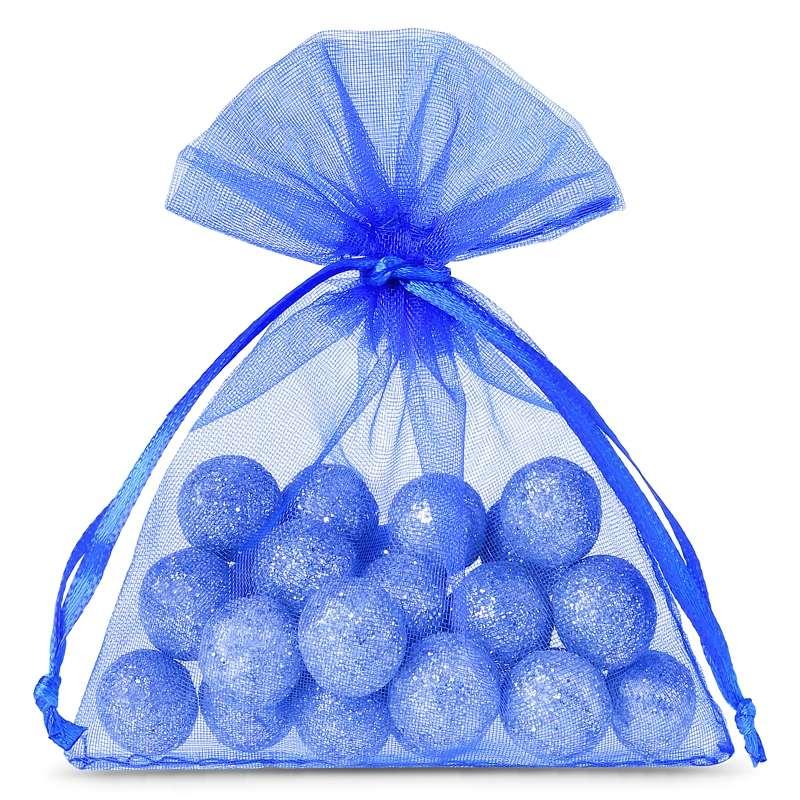 Sacchetti di organza 8 x 10 cm (25 pz) - blu Décoratif Sacs en organza