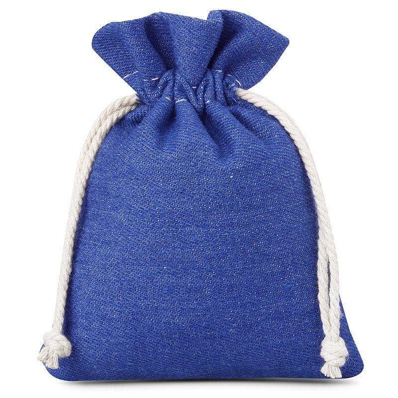 3 pièces Sacs en jean 12 x 15 cm - bleu