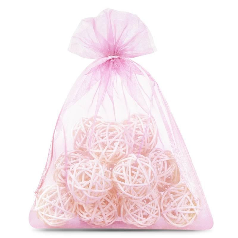 25 pièces Sacs en organza 12 x 15 cm - rose clair