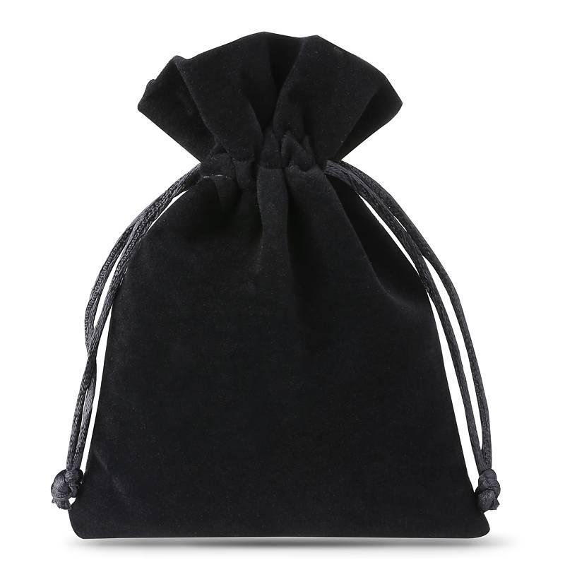 10 pièces Sacs en velours 8 x 10 cm - noir Sacs en velours