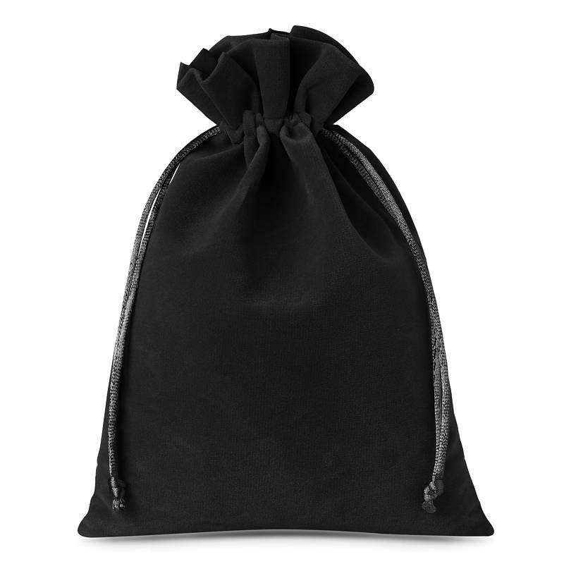 5 pièces Sacs en velours 22 x 30 cm - noir