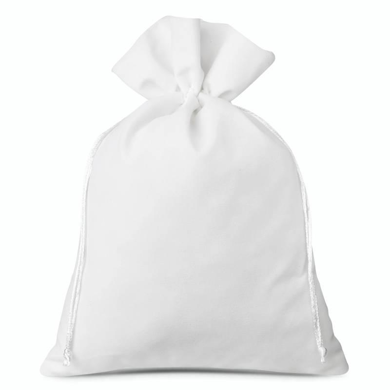 3 pièces Sacs en velours 26 x 35 cm - blanc