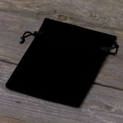10 pièces Sacs en velours 10 x 13 cm - noir Sacs en velours