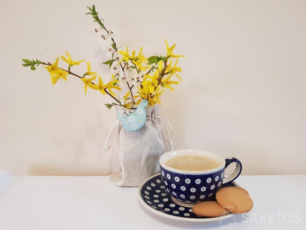 Sachets en tissu sont fantastiques en tant que protections des pots à fleurs et vases