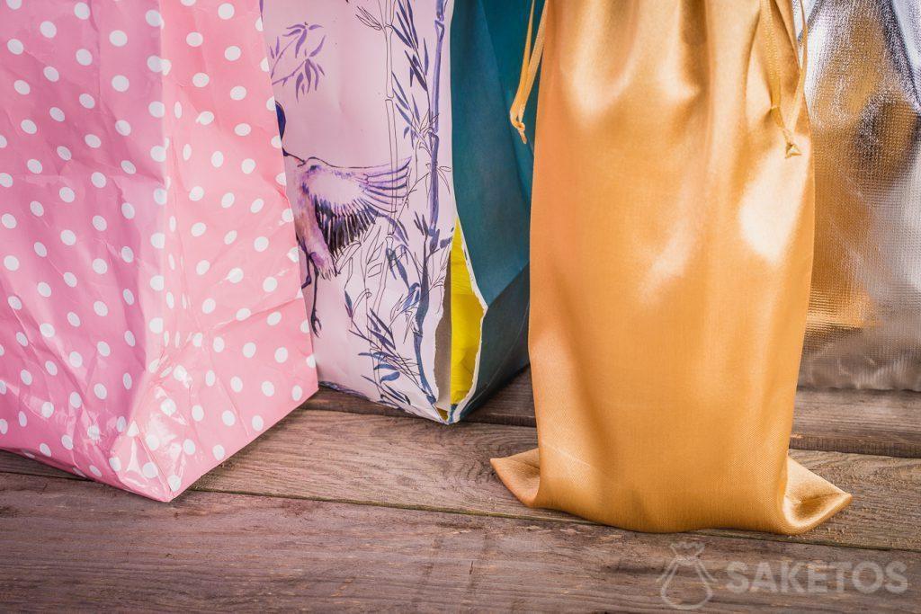Les sachets en tissu ont toujours un air soigné et élégant