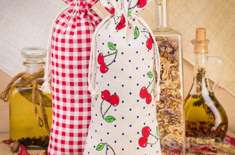 5. Les pochettes de lin imprimées pour décorer la cuisine