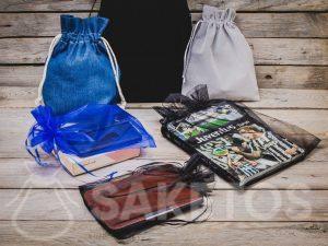 Les sacs en denim, velours et organza sont l'emballage parfait pour les cadeaux pour hommes