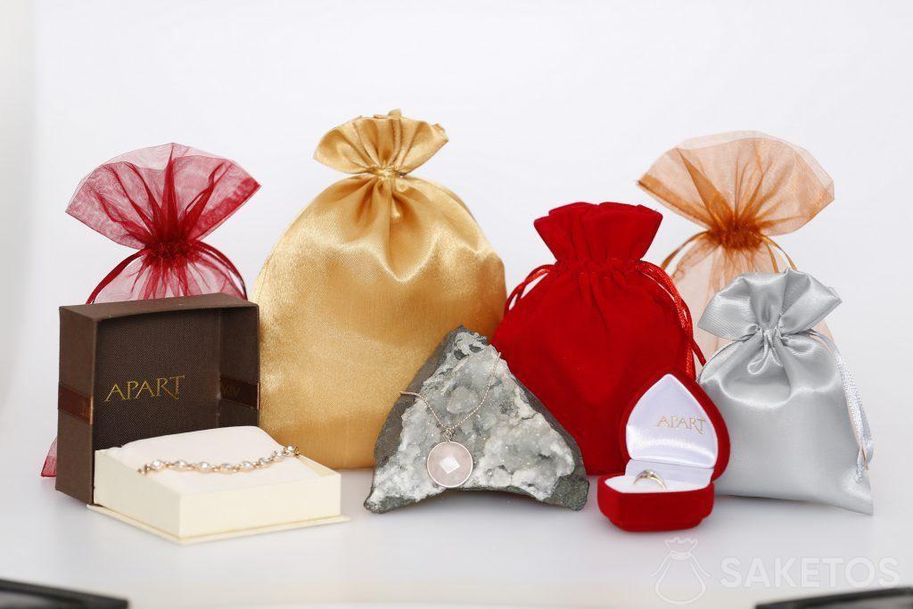 Sachets en tissu pour bijoux pour femme