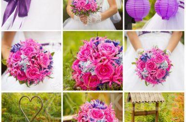 6. Un collage qui facilite le choix des accessoires associés à la couleur de mariage