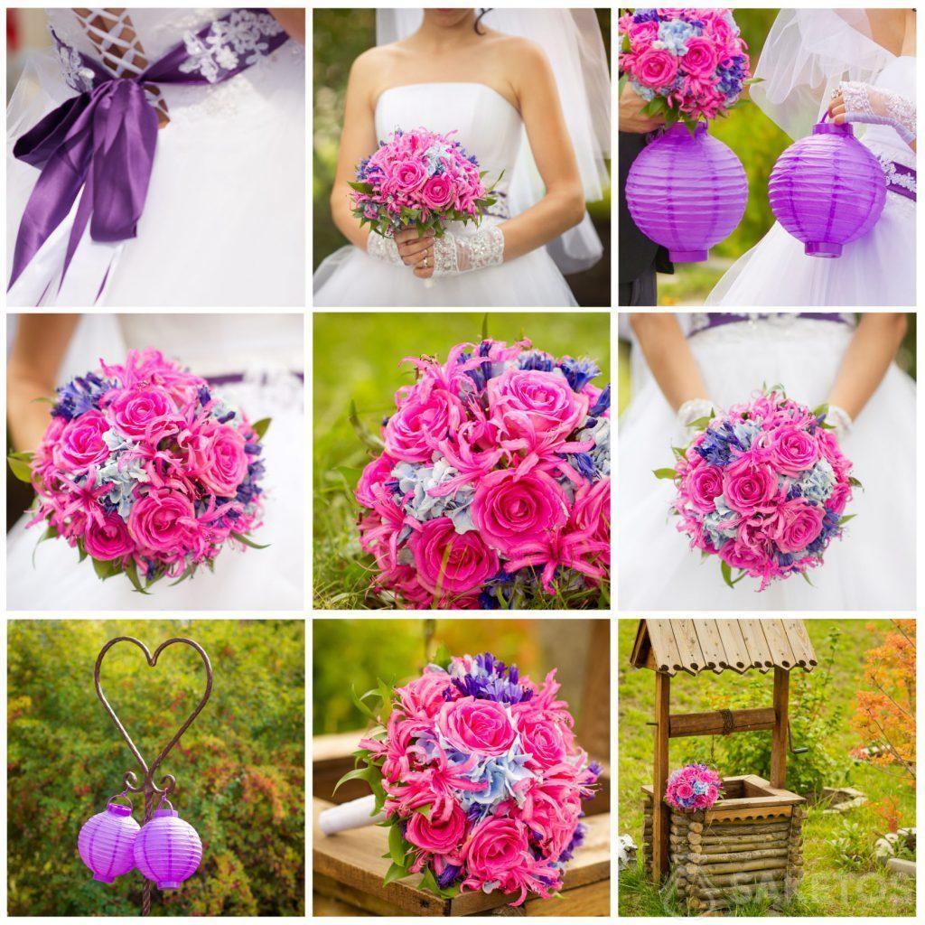 6.Un collage qui facilite le choix des accessoires associés à la couleur de mariage
