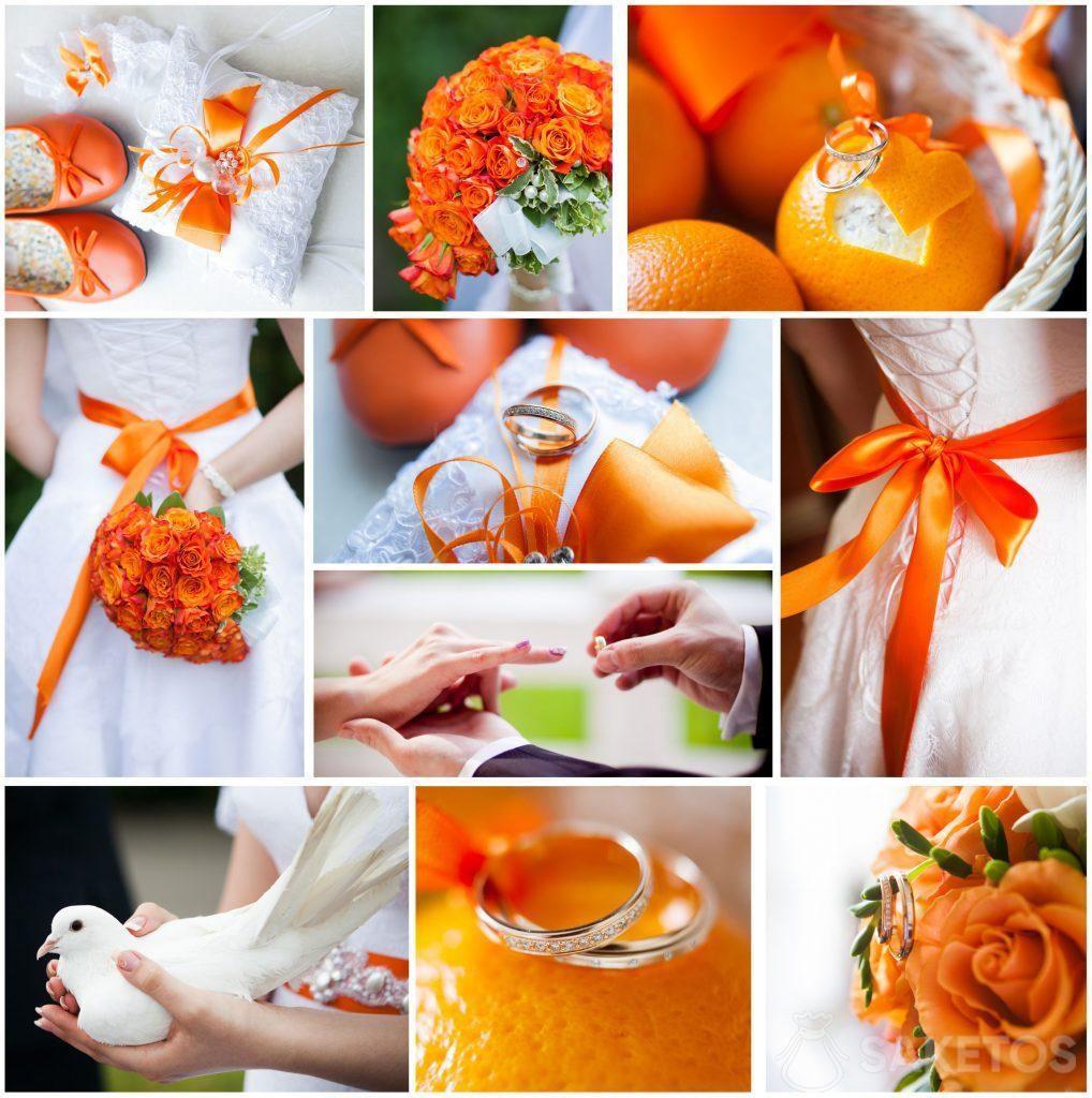 1.Le thème couleur de mariage et de réception - orange