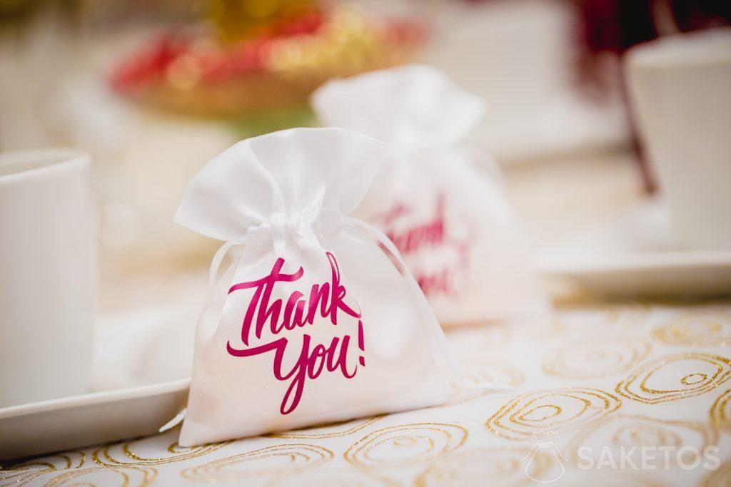Merci aux invités au mariage