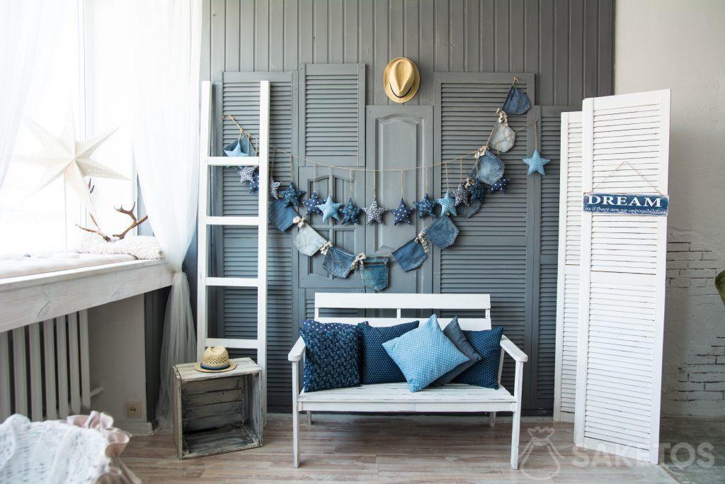 Jeans (Denim) en décoration intérieure