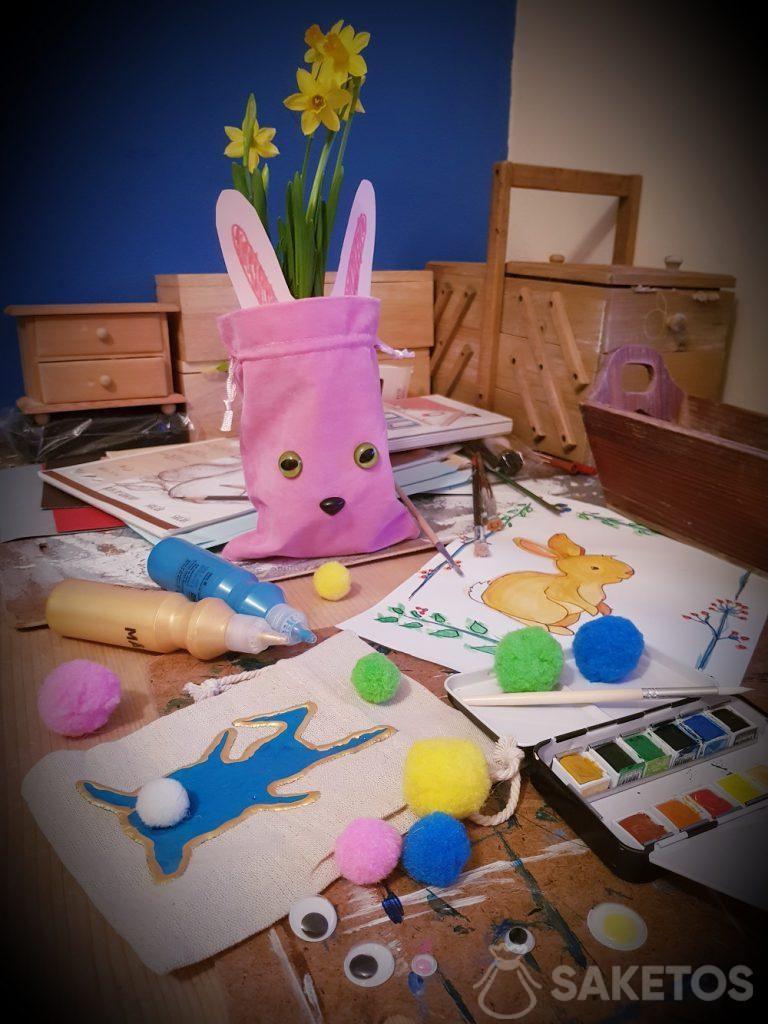 Créatif avec votre enfant - sacs de bricolage pour Pâques