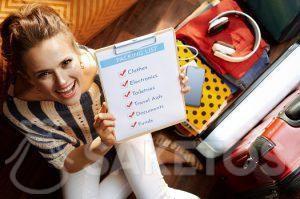3.Avant de faire votre valise, préparez votre check-list de départ