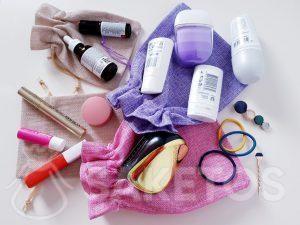 8.Les sachets pour transporter les cosmétiques