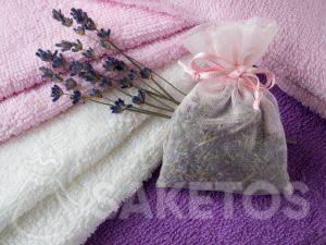 6.Le sachet avec de la lavande séchée donnera à vos serviettes un beau parfum et protégera contre les mites