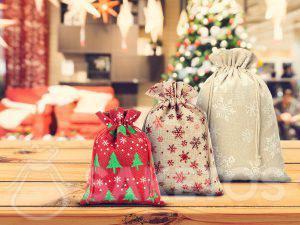Le fabricant des sacs de Noël entre autres en jute et en lin